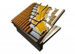 Kosi ventilirani krov s visokom vrijednosti ljetnog temperaturnog kašnjenja